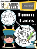 Funny Faces Number Puzzle Pictures Volume II