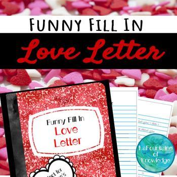 Funny Fill-In Love Letter