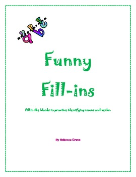 Funny Fill-ins for Parts of Speech
