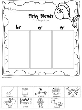 Dr. Silly's Funny Fish Blends Center & No-Prep activities