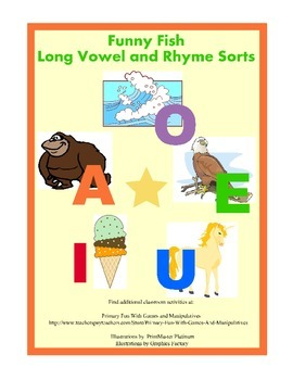 Funny Fish (Long Vowel and Rhyming Activities)