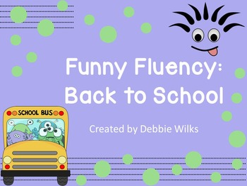 Funny Fluency: Back to School