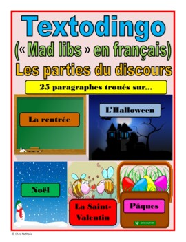 Funny French Paragraphs (School, Halloween, Christmas, Valentine's Day, Easter)