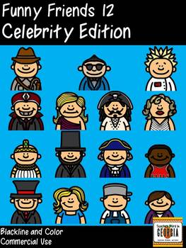 Funny Friends 12 Clipart Collection- Celebrity Edition