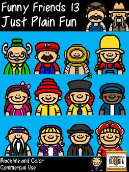 Funny Friends 13 Clipart Collection- Just Plain Fun! Commercial Use Graphics