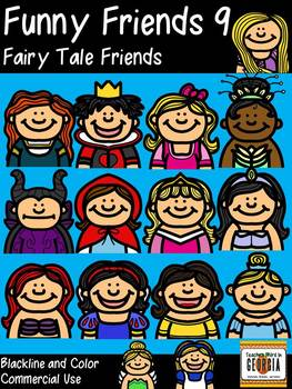 Funny Friends 9 Clipart Collection-Fairy Tale Friends-30 I