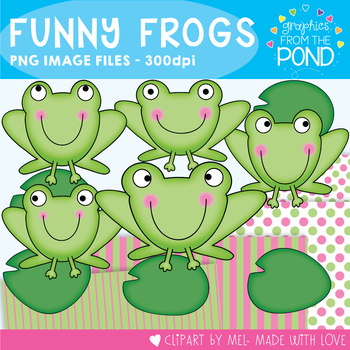 Funny Frogs - Clipart for Teachers and Classrooms