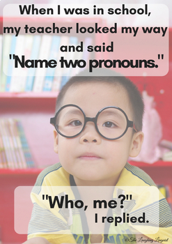 Funny Grammar Posters for English & ESL Classrooms