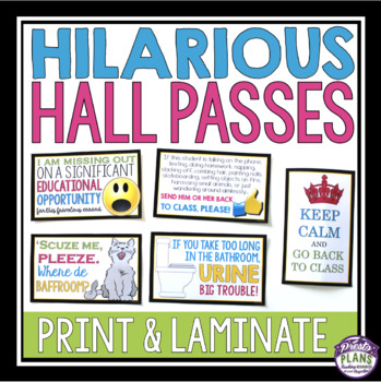 10 Personalized Zebra Design Teacher Classroom Passes Hall Pass Bathroom Pass