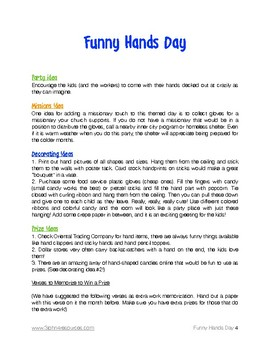Funny Hands Theme Day Plan