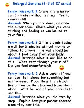 Writing Homework Task Cards