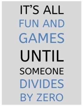 Funny Math Posters