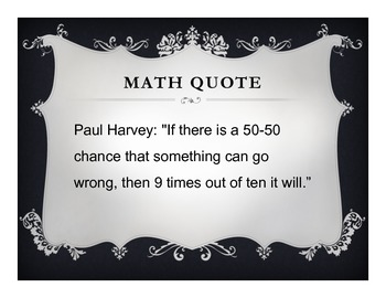 Math Posters: Funny Math Quotes (15 Posters) by A R Mathematics | TpT