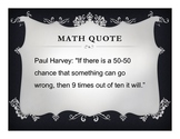 Math Posters: Funny Math Quotes (15 Posters)