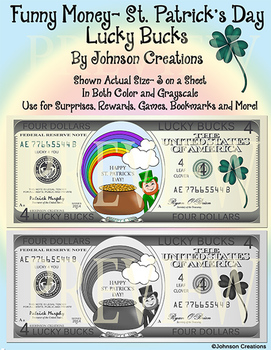 Funny Money- St. Patrick's Day Lucky Bucks