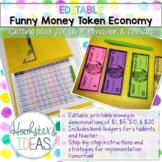 EDITABLE Funny Money Token Economy Behavior Management System
