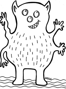 Funny Monster Coloring Sheet