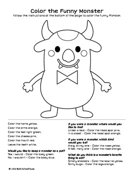 Funny Monster Glyph Craft and Worksheets