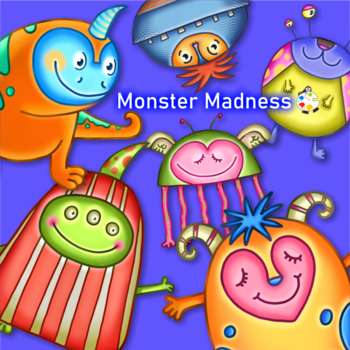 Funny Monster Madness ClipArt Set 1