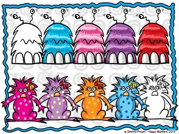 Funny Monsters (Clip art by Happy Markers)