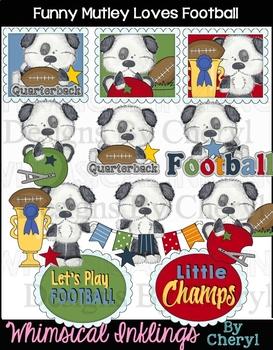 Funny Mutley Loves Football~ Football Clipart