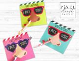 Funny Nose Picker Printable Valentine's Day Treat Holder Valentine Cards