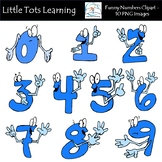 Numbers Clipart / Funny Emoticon Numbers Clipart / Number Faces