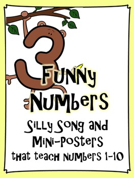 Funny Numbers - Fun Song and Mini-Posters that teach numbers 1-10