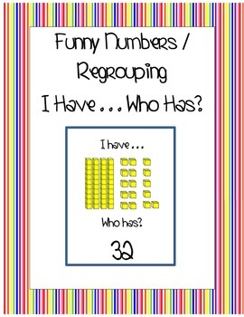 "Funny Numbers Regrouping ""I Have . . . Who Has?"""