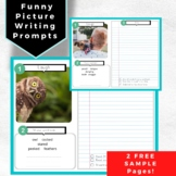 Funny Picture Writing Prompts- FREE