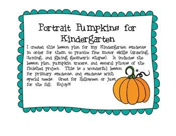 Funny Portrait Pumpkins for Kindergarten