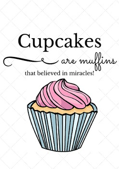 Posters for Secondary Classrooms - Cupcakes are Muffins