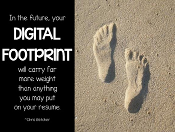 Posters for Secondary Classrooms - Digital Footprint