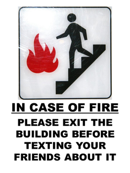 Posters for Secondary Classrooms - In Case of Fire