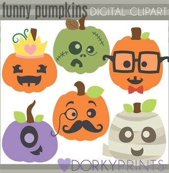 Funny Pumpkins Clip Art By Dorky Doodles Teachers Pay Teachers