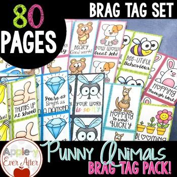 Funny Punny BRAG TAG Set