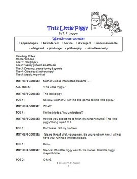 Free Readers' Theater: Mother Goose Interrupted: This Little Piggy (grades 3-6)