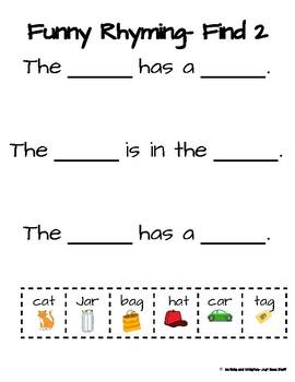 Funny Rhyming- Find 2 that rhyme
