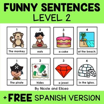 Funny Sentence Building Center 2