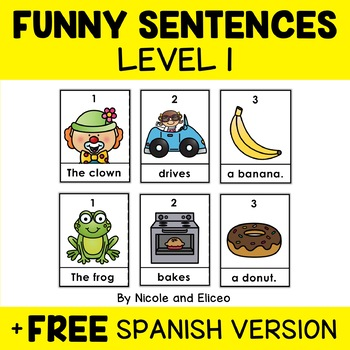 Funny Sentence Building Center 1