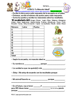 Fun Spanish Brain Break Video Activities -Emoji, Superpower, Talent, Pet, House