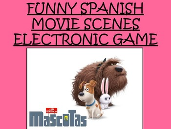 Funny Spanish Movie Scenes Electronic Game -The Secret Life of Pets