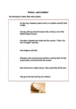 Funny Story Sequencing Worksheet