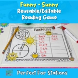 Funny-Sunny (An Independent Phonics Game)- Editable
