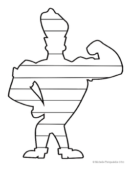 Funny Super-Hero Shaped Book Template