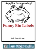 Funny Supply Bin Labels and Sign