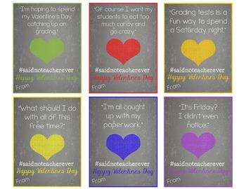 Funny Teacher Valentine's Exchange Cards