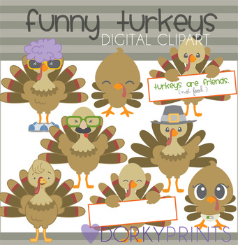 Funny Turkeys Clip Art