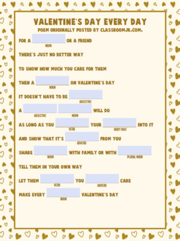 Funny Valentine's Day Mad Lib Collection ***printables, Google Slides, & pdf ***