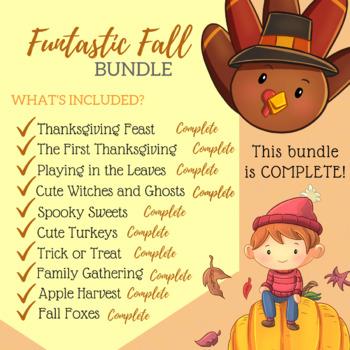 Funtastic Fall Growing Bundle Clip Art - Fall Clipart